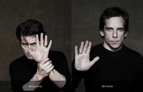 Willem da Foe and Ben Stiller for Bulgari/Save the Children
